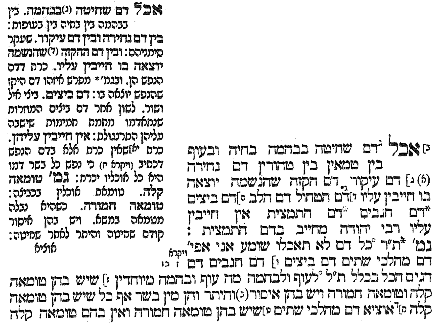 scan from tractate Keritut [Hebrew and Aramaic]