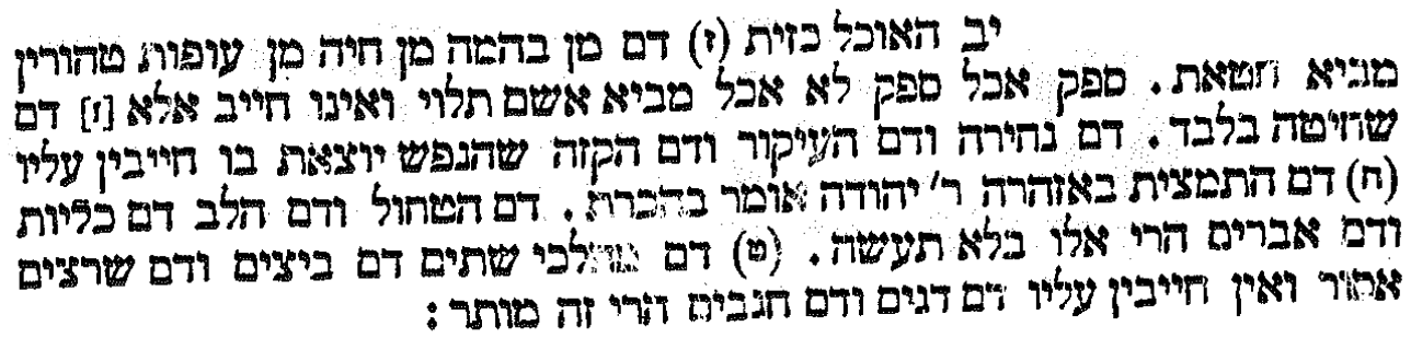 scan from Tosefta Keritut [Hebrew]